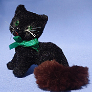 black cat brown tail French fashion doll Germany 3""