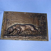 WMF bronze finish copper plaque German pointer  Diller Germany