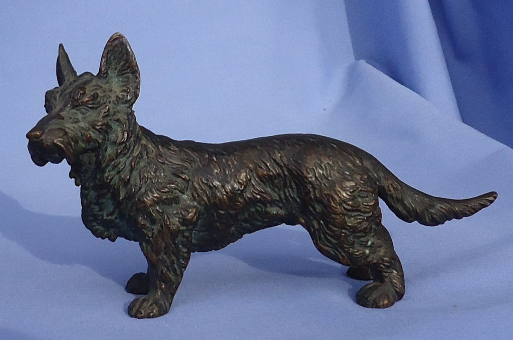 Vienna bronze Scotty Scottish terrier Austria 6""