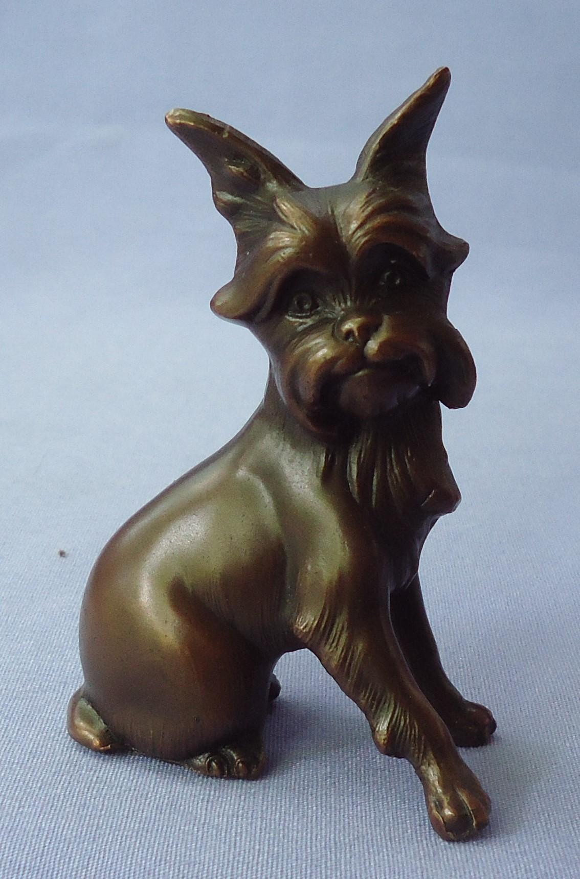1930 bronze Brussels Griffon Jennings Bros JB