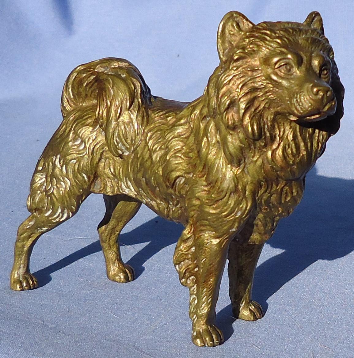 "Vienna bronze Spitz Samoyed Chow Chow dog Austria 5"""