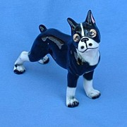 vtg BOSTON Terrier French Bulldog  great eyes 6""