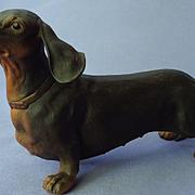 """1970s black tan Dachshund Boehm 6"""""""