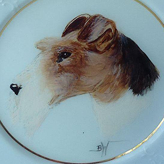 1995 OOAK wire haired Fox Terrier Barb Walker