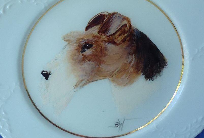 1995 OOAK wire haired Fox Terrier Barb Walker