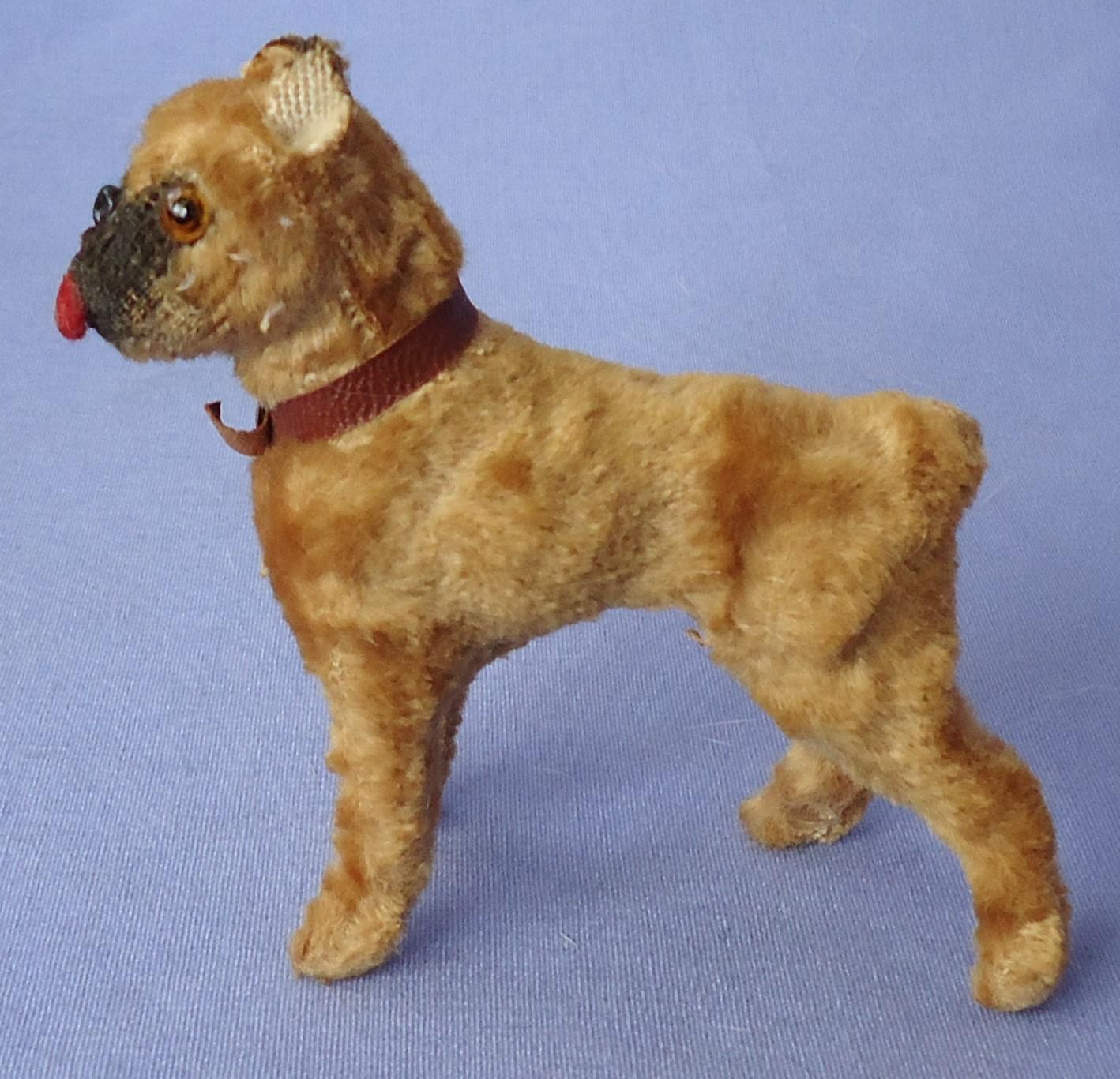 antique Boxer salon dog French fashion doll Germany 3""