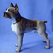 1950s Boxer dog Hutschenreuther Germany 6""