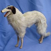 "Antique fur Borzoi  12"" salon dog Kestner Jumeau fashion doll Germany label"