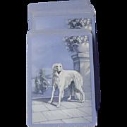 vintage blue Borzoi card deck
