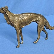 1900s authentic Austria solid bronze Borzoi 7""