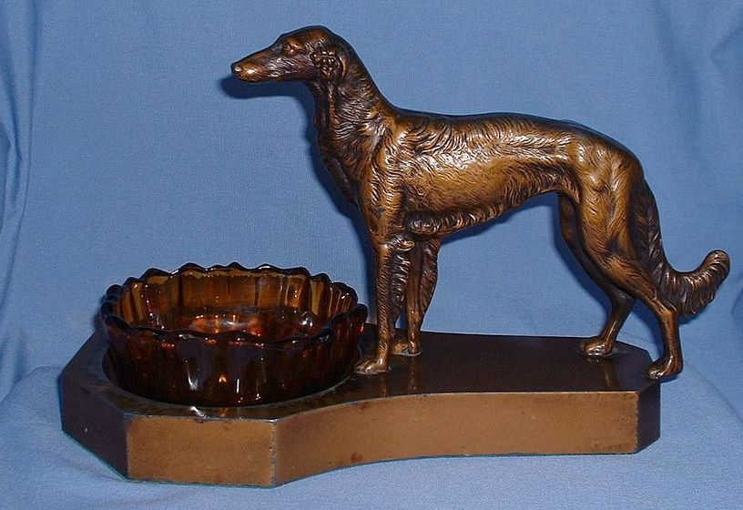 1920s BORZOI cigar ashtray 13""