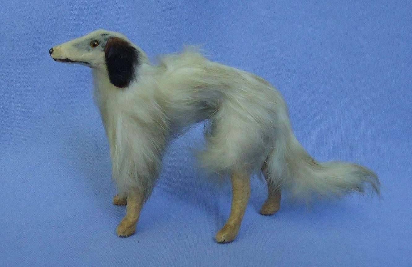 antique  fur  Borzoi salon dog companion  for French fashion doll Germany 5""