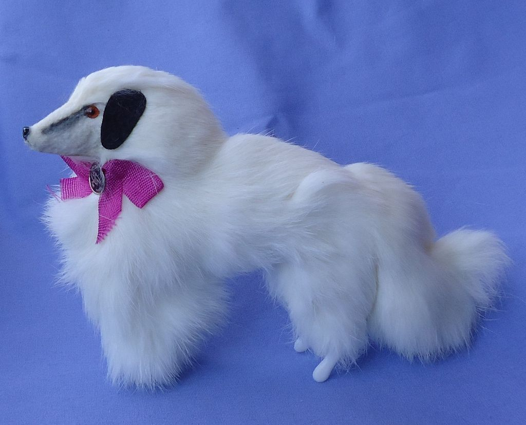 fur Borzoi salon dog  4 French fashion doll Germany 7""