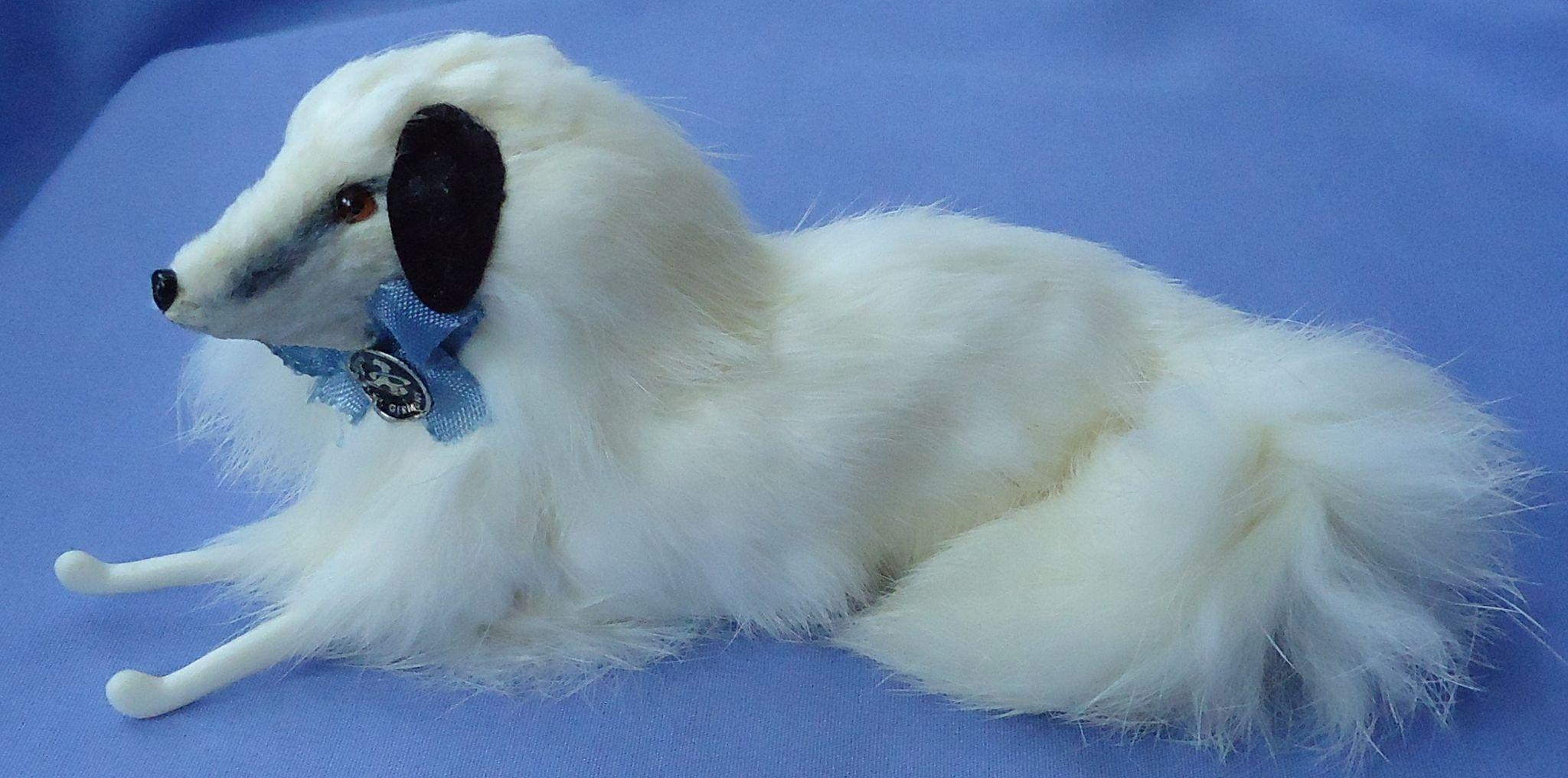 "fur Borzoi dog 4 French fashion doll 7"" Germany"