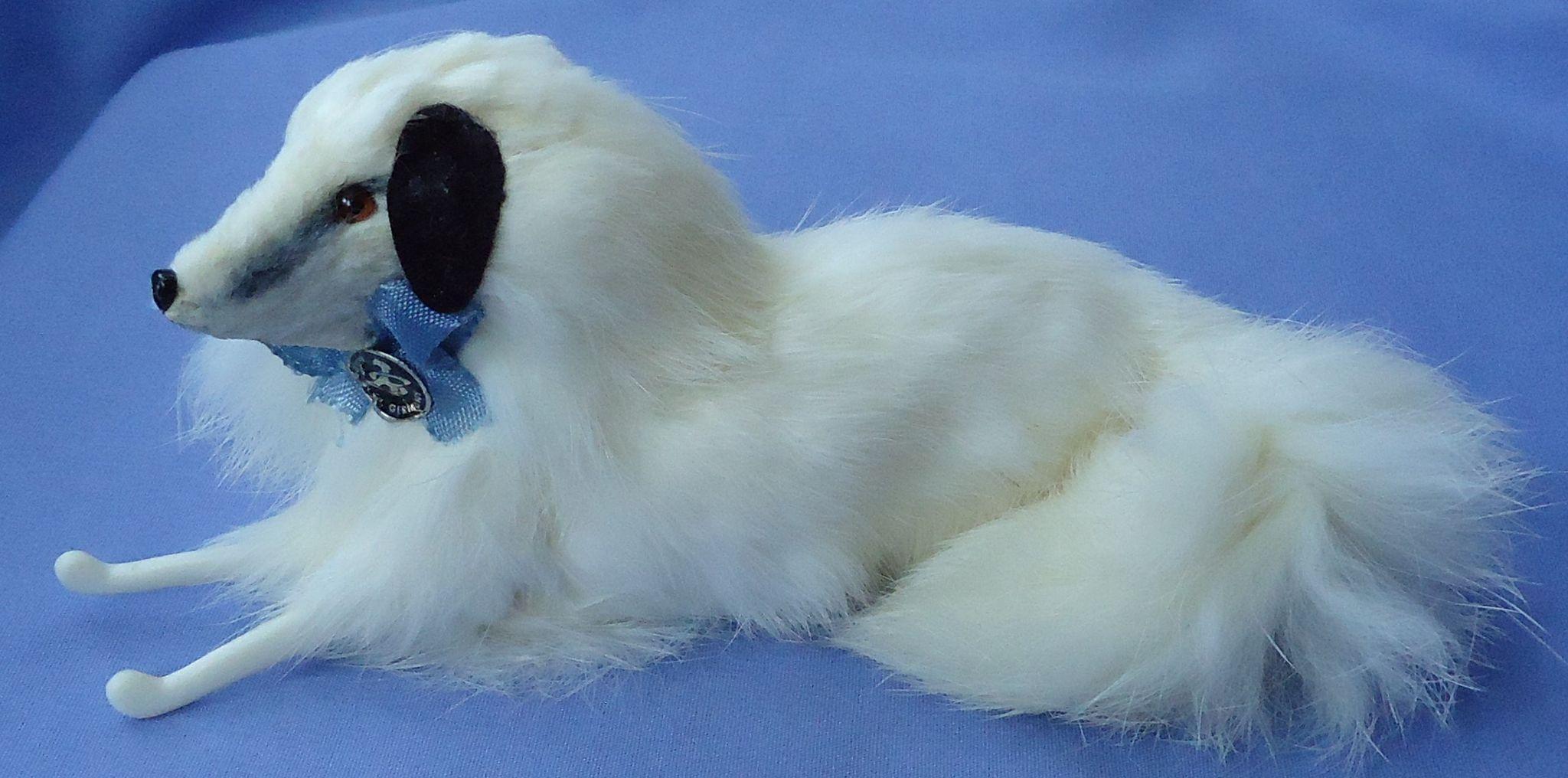 "fur Borzoi dog 4 French fashion doll 7"" Germany"