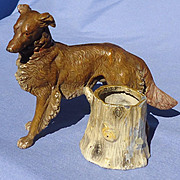 Borzoi inkwell match holder Germany 6""