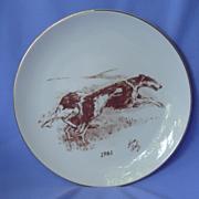 """1981 Borzoi plate 8"""" LE"""