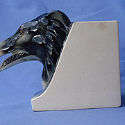 "1930 deco Borzoi head cigarette holder 4"" Japan"