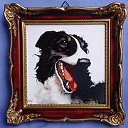 "1950 Rosenthal Borzoi hand painted dog 8"""