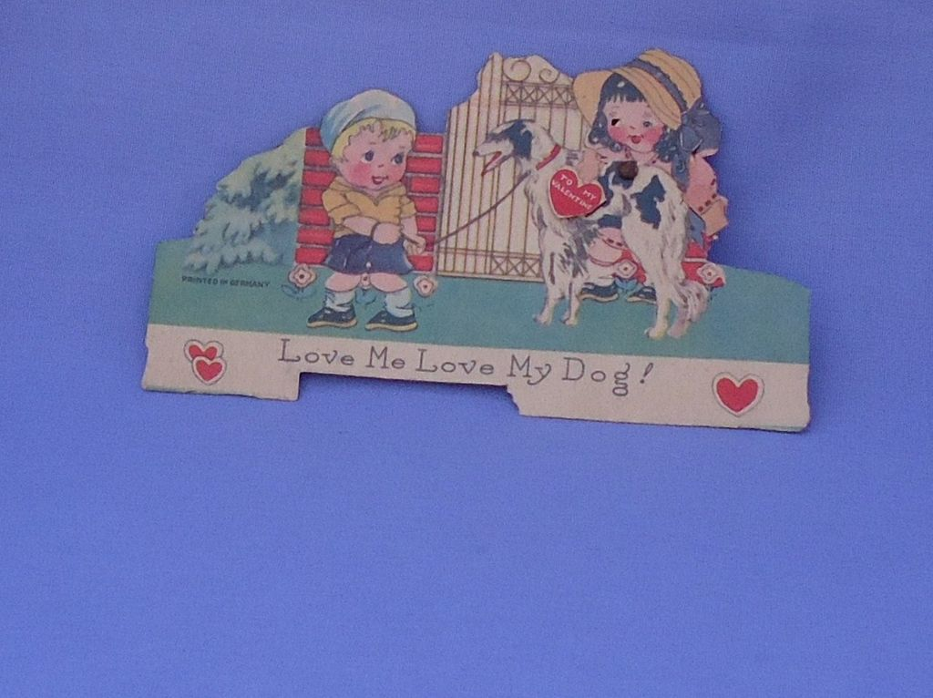 very rare Borzoi mechanical Valentine Germany