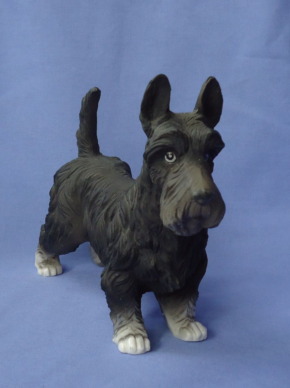 "8"" porcelain Scotty Scottish terrier Capodimonte"