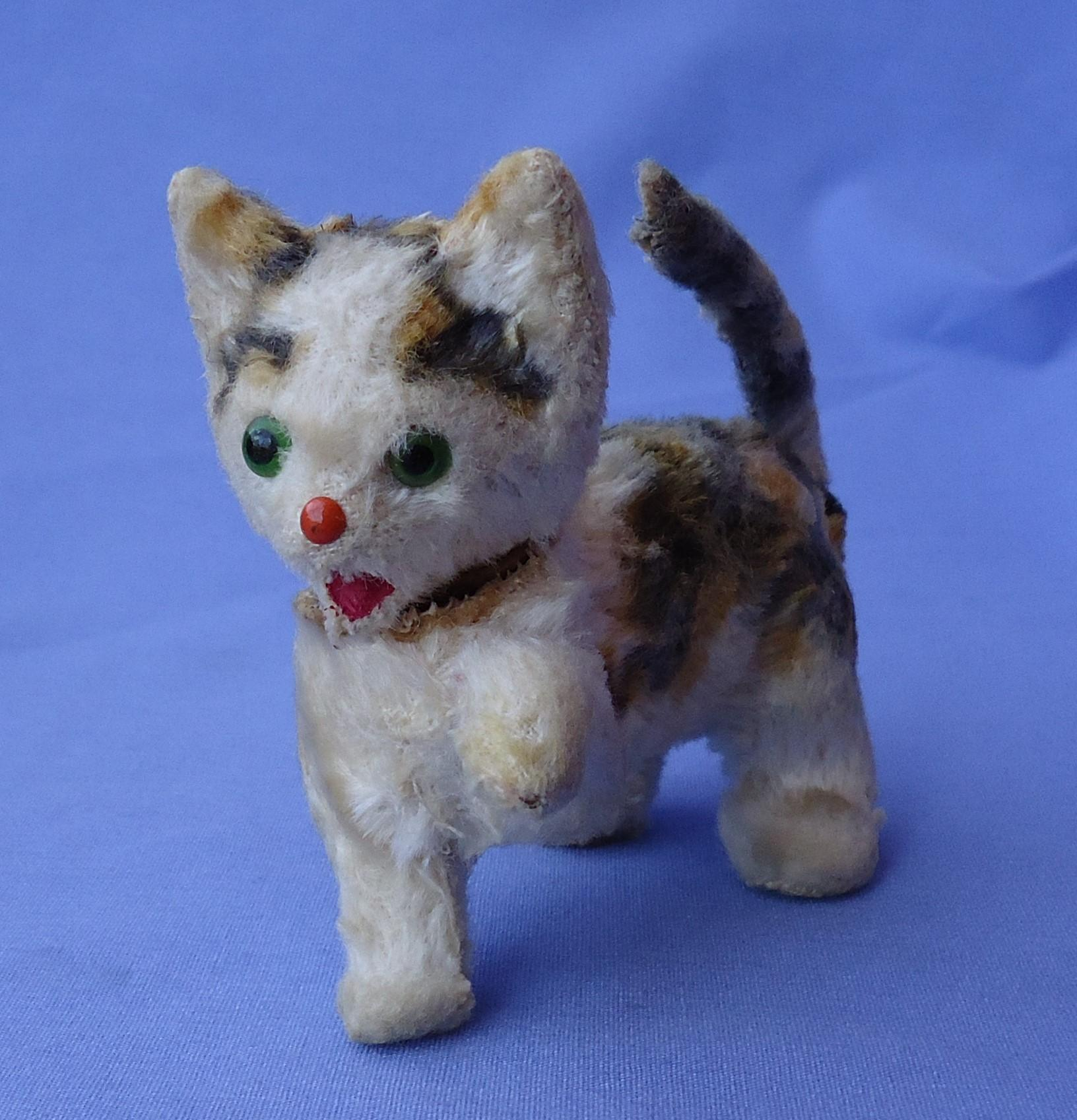 antique CAT squeaker salon cat Germany label French fashion doll