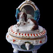 antique Cavalier King Charles spaniel box Conta Boehme