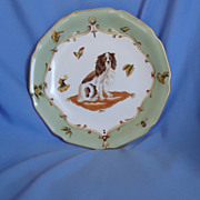 """Cavalier King Charles Spaniel hand painted plate 10"""""""
