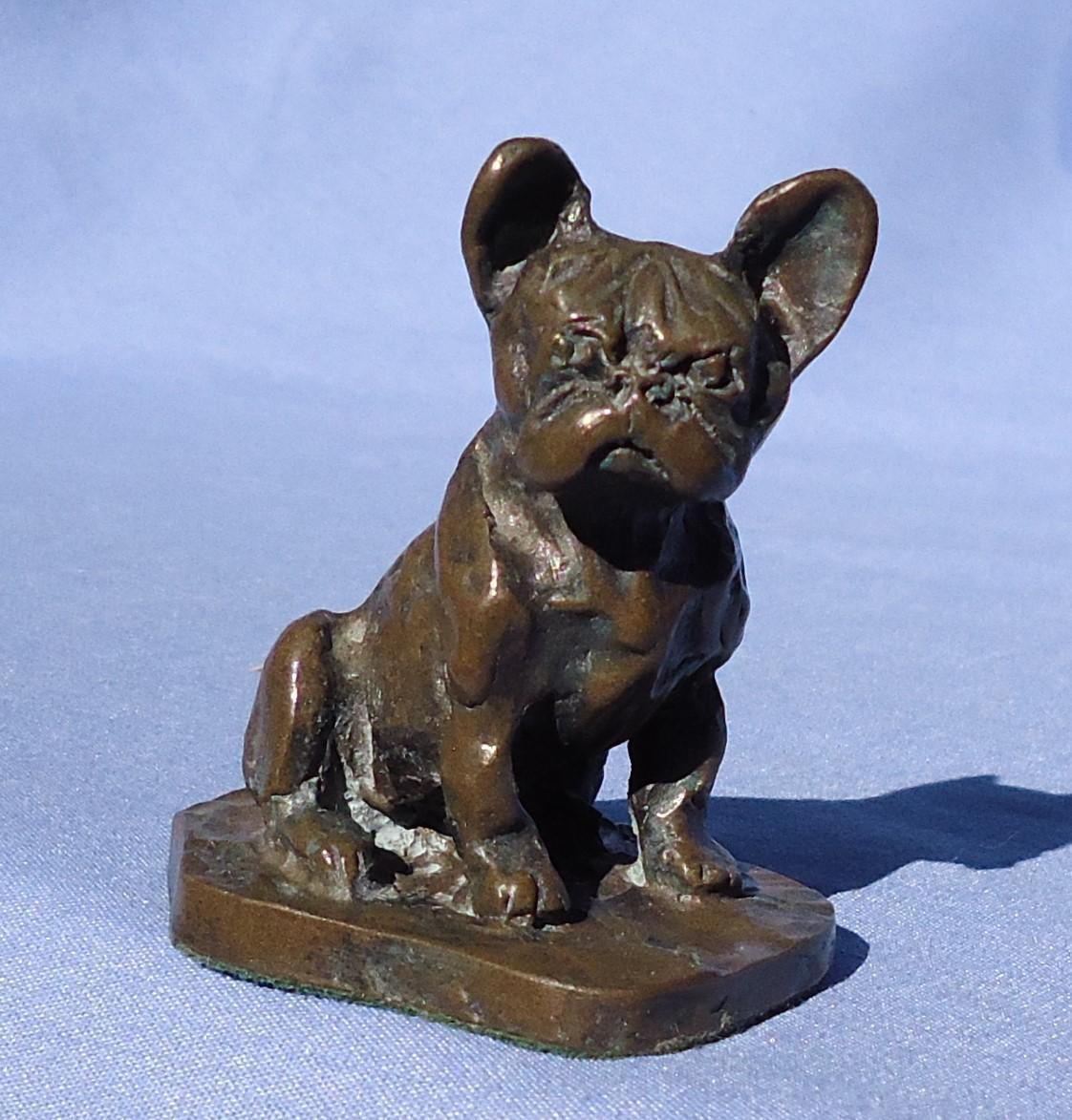 "cc bronze French Bulldog 3"""