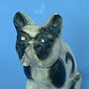 1930/40s carnival circus chalk dog FRENCH BULLDOG/collar 7""