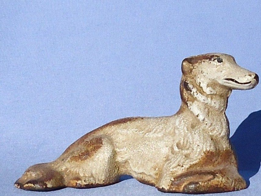 1930s cast iron  Hubley Borzoi original paint