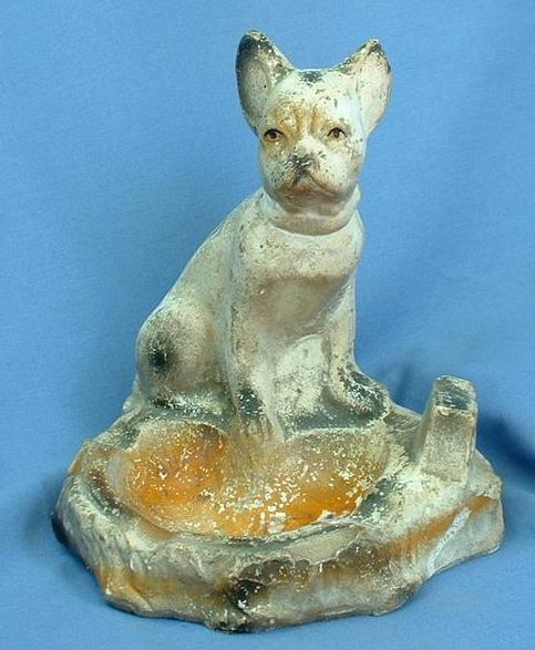 ..1930s circus FRENCH BULLDOG Boston Terrier ashtray 6""