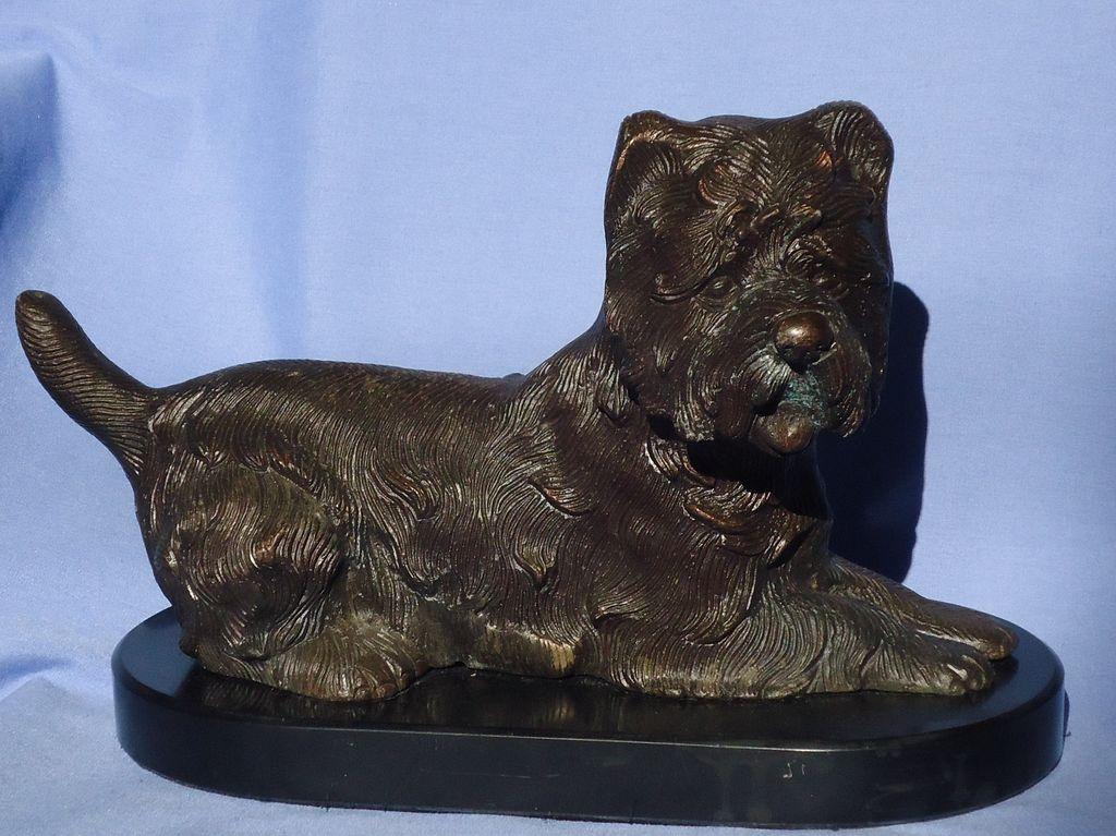"""Cairn Terrier bronze 12"""""""