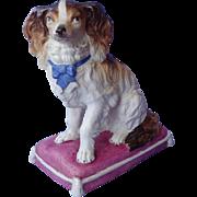 "antique Cavalier King Charles Spaniel bisque dog  7"""