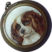 antique Cavalier King Charles Spaniel Victorian patch box