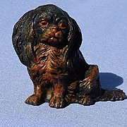 antique Cavalier King Charles Spaniel dog Heyde Germany 4""