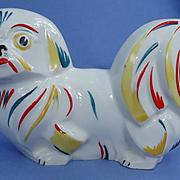 """art deco Pekingese Tibetan Spaniel Czechoslovakia 8"""""""