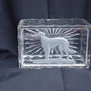 art deco cigarette box Borzoi