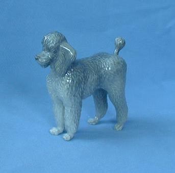 """vintage Poodle Denmark dog Royal Copenhagen  5"""""""