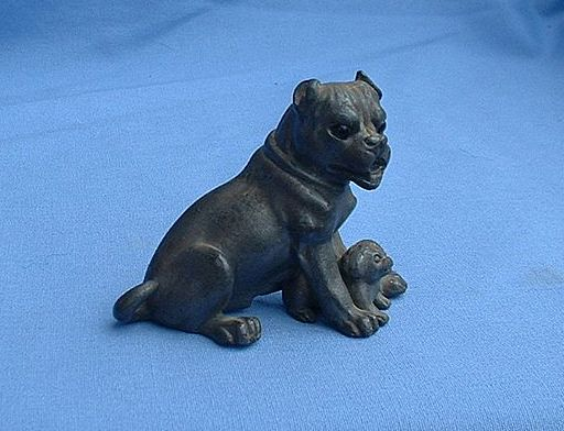 rare 1900s PUG pair glass eyes Derby / James W. Tuffs
