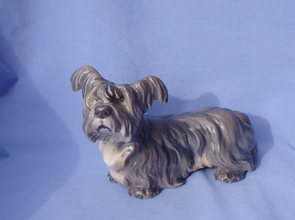 "vintage Skye Terrier Dahl Jensen 7"" mint"