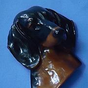 "1940s black tan Dachshund Mortens studio 6"""