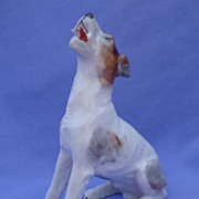vintage Dresden fox terrier Parson Germany 6""
