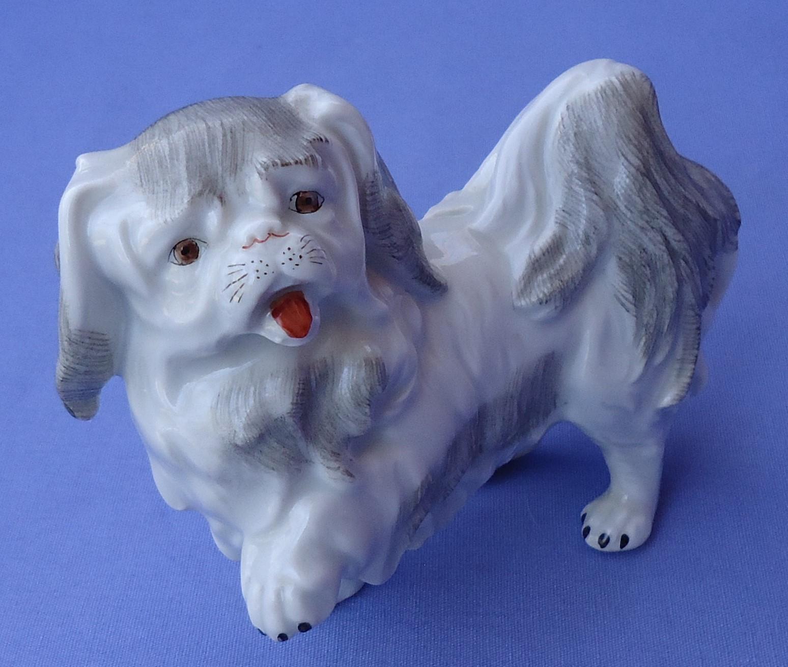vintage Pekingese Tibetan Spaniel dog Dresden Germany