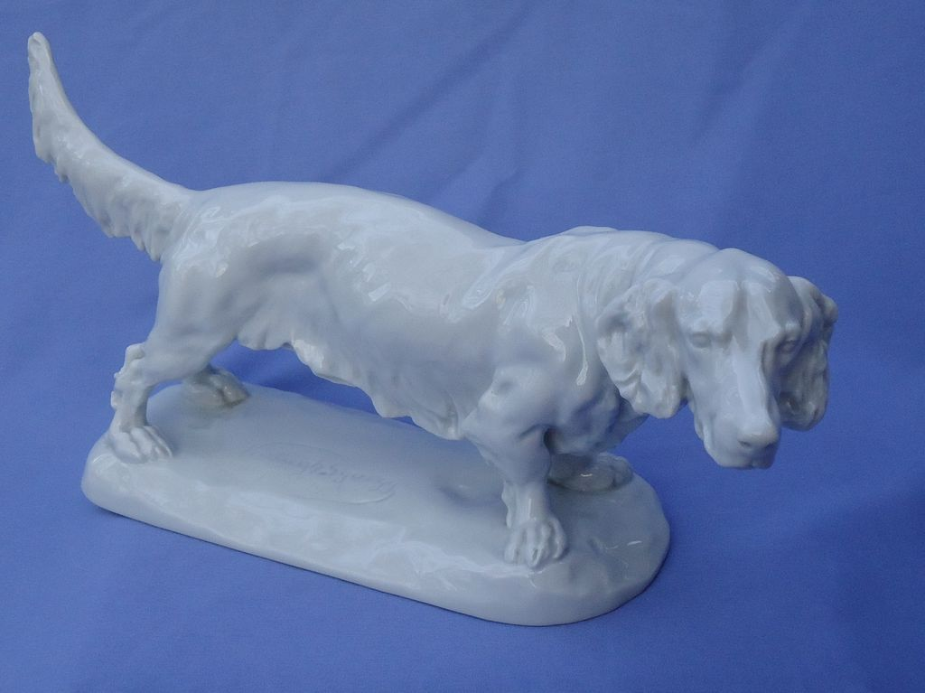 Herend long haired Dachshund 15""