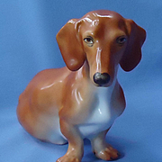 vintage Dachshund mother Herend 10""