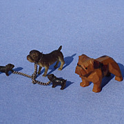 7 English Bulldog black forest wood Britain's Occupied Japan