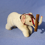 antique fur circus elephant toy Germany French fashion doll label