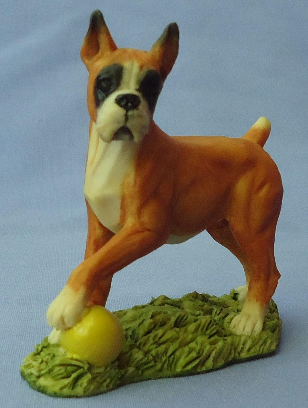 Boxer dog w ball  England 3""