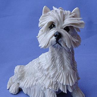 "vintage West Highland terrier Eve Pearce England 1/1 5"""